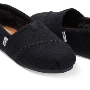 Woolen TOMS BLACK WOMEN'S CLASSICS Brand New